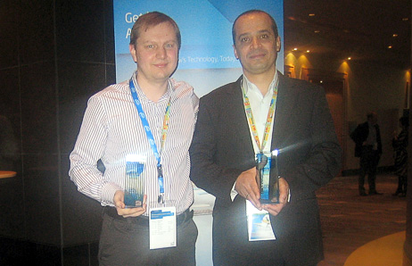 Leonid Fink, Product Line Sales Manager for ASBIS Russia, and Akram Michael, Product Line Sales Managers for ASBISC Enterprises plc, META region, picked up the awards for